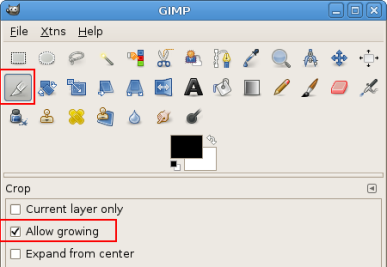 Cropping Options in GIMP