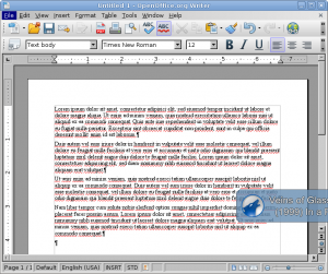An image showing the text with no columns
